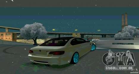 BMW E92 para GTA San Andreas esquerda vista