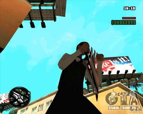 Chrome black red gun pack para GTA San Andreas sexta tela