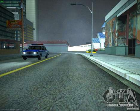 Polícia de 2107 VAZ para GTA San Andreas vista direita