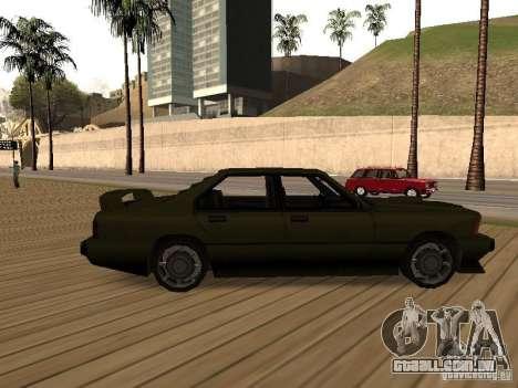 Sentinel XS para GTA San Andreas esquerda vista