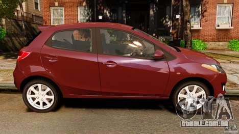 Mazda 2 2011 para GTA 4 esquerda vista