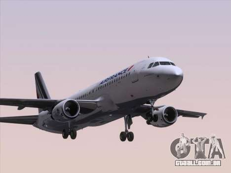 Airbus A320-211 Air France para GTA San Andreas esquerda vista
