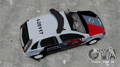 Chevrolet Corsa 2012 PMESP ELS para GTA 4 vista direita