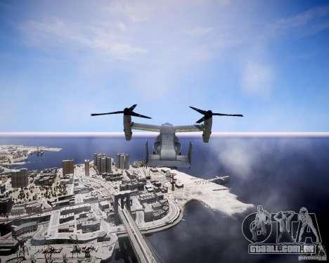 Osprey MV-22 para GTA 4 vista de volta