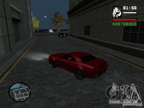 NFS Undercover Coupe para GTA San Andreas traseira esquerda vista