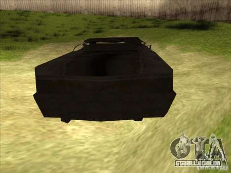 Real Ghostcar para GTA San Andreas traseira esquerda vista