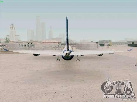 Airbus A-340-600 para GTA San Andreas traseira esquerda vista