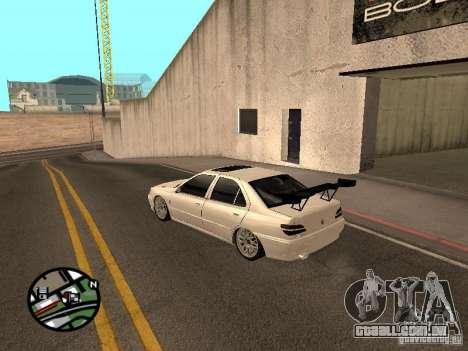 Peugeot 406 Tuning para GTA San Andreas traseira esquerda vista