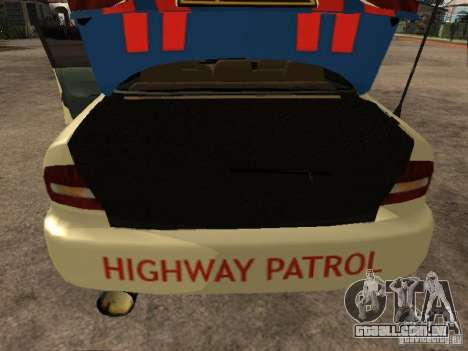 Mitsubishi Galant Police Indanesia para GTA San Andreas vista traseira