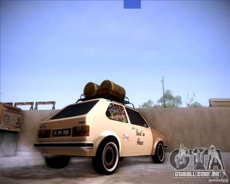 Volkswagen Golf MK1 rat style para GTA San Andreas esquerda vista