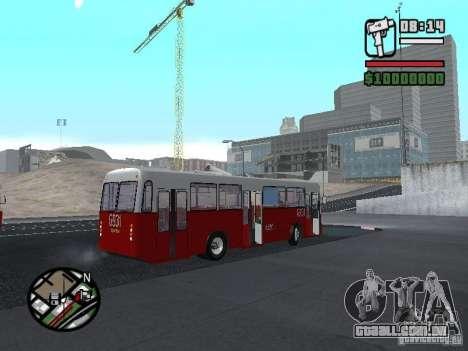 Ikarus Ik4 para GTA San Andreas vista traseira