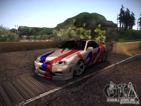 Nissan Skyline full tune para GTA San Andreas esquerda vista