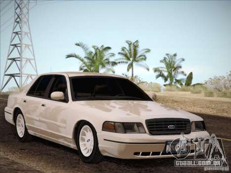 Ford Crown Victoria Interceptor para GTA San Andreas vista traseira