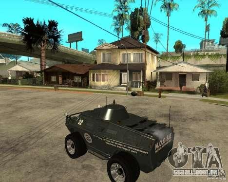 O APC de GTA IV para GTA San Andreas esquerda vista