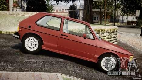 Volkswagen Rabbit 1986 para GTA 4 esquerda vista