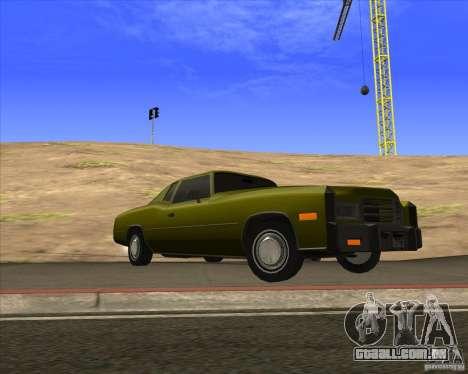 HD Esperanto para GTA San Andreas vista traseira