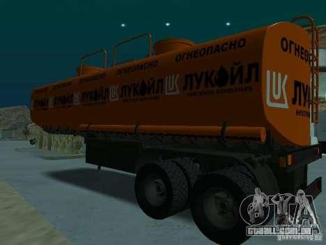 Tanque Lukoil para GTA San Andreas traseira esquerda vista