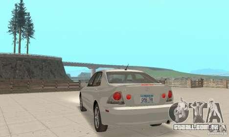 Lexus IS300 Stock para GTA San Andreas esquerda vista