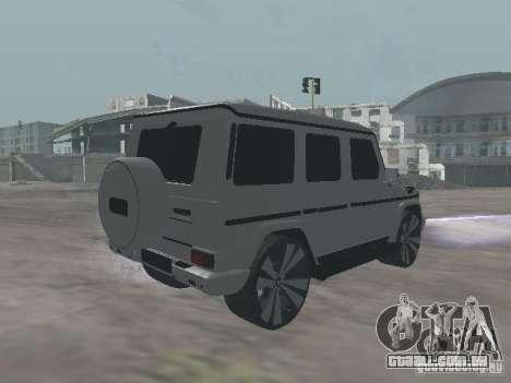 Mercedes-Benz G500 Kromma 1480 para GTA San Andreas traseira esquerda vista