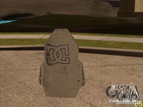 DC de pára-quedas para GTA San Andreas segunda tela