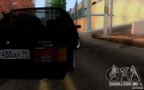 Blueline Vaz 21099 para GTA San Andreas traseira esquerda vista