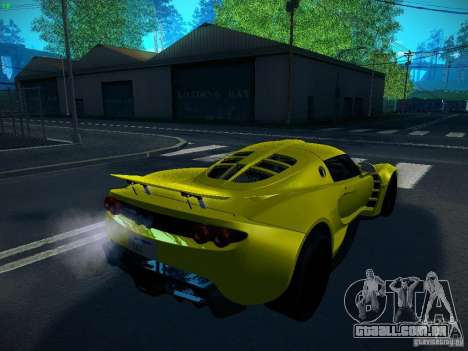Hennessey Venom GT Spyder para GTA San Andreas esquerda vista