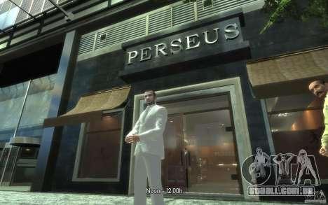 Grande traje cinza-branco para GTA 4 por diante tela