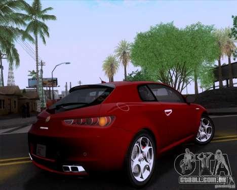 Alfa Romeo Brera para GTA San Andreas traseira esquerda vista