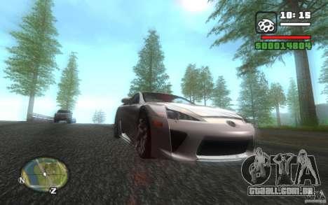 Lexus LFA para GTA San Andreas vista traseira