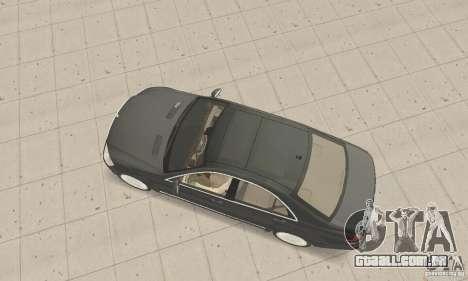 Mercedes-Benz S500 (w221) 2006 para GTA San Andreas traseira esquerda vista