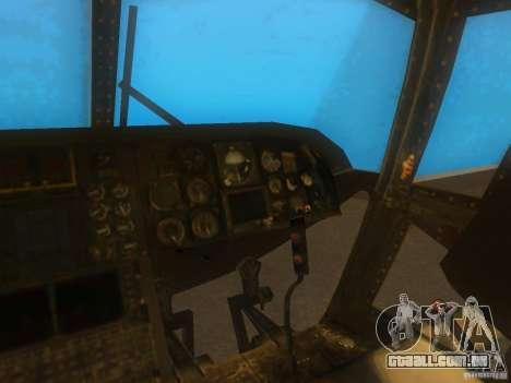 CH46 para GTA San Andreas vista interior