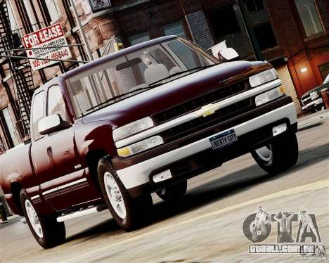 Chevrolet Silverado 1500 2000 para GTA 4 traseira esquerda vista