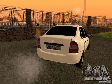 VAZ 1118 para GTA San Andreas traseira esquerda vista