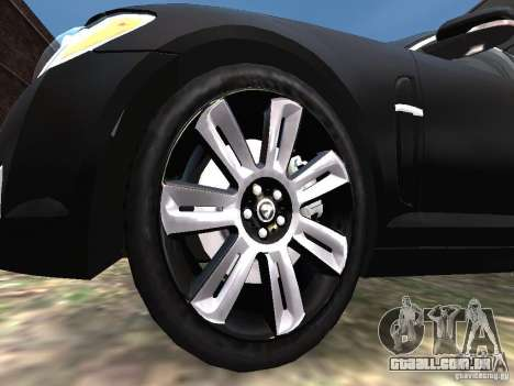 Jaguar XFR para GTA 4 vista inferior