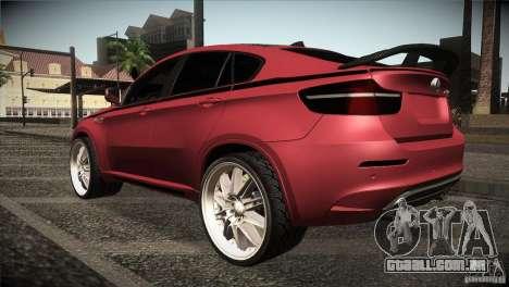 BMW X6 Lumma para GTA San Andreas vista direita