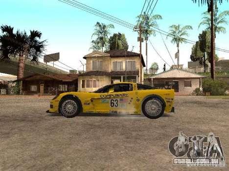 Chevrolet Corvette C6-R para GTA San Andreas esquerda vista