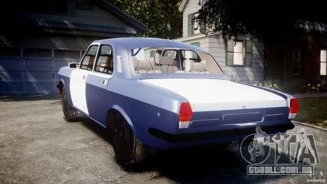 Volga GAZ-2410 1989 v 2.1 para GTA 4 traseira esquerda vista