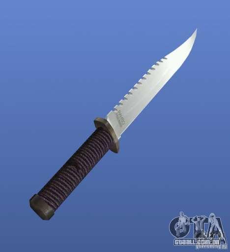 Faca Rambo sem assinatura para GTA 4 segundo screenshot