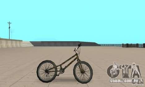 Trial bike para GTA San Andreas traseira esquerda vista