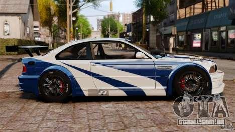 BMW M3 GTR MW 2012 para GTA 4 esquerda vista