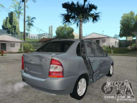 LADA Kalina sedan para GTA San Andreas vista inferior
