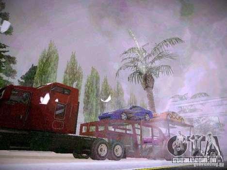 Auto transporte reboque para GTA San Andreas traseira esquerda vista