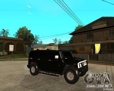 AMG H2 HUMMER SUV FBI para GTA San Andreas vista direita