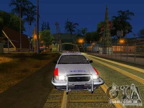 Ford Crown Victoria Police Patrol para GTA San Andreas interior