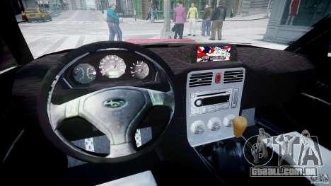 Subaru Forester v2.0 para GTA 4 vista de volta