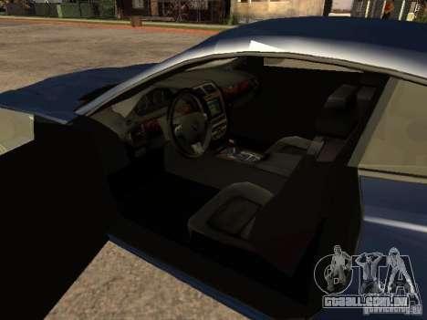 Jaguar XK para GTA San Andreas traseira esquerda vista