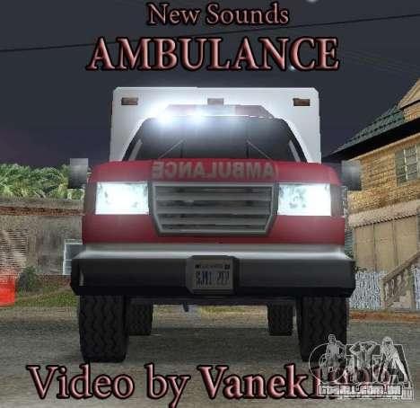 Novo sinal de emergência para GTA San Andreas