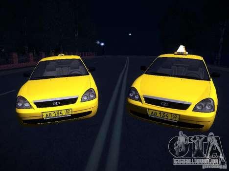 LADA Priora 2170 táxi TMK Afterburner para GTA San Andreas vista direita