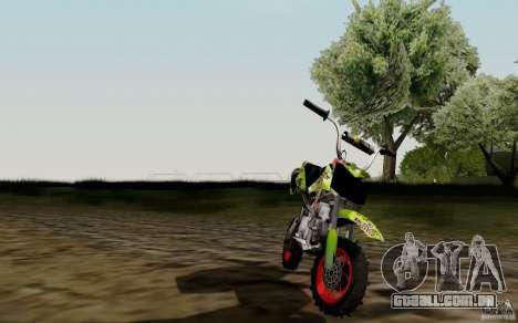 Kawasaki 50cc Pocket Factory Bike para GTA San Andreas vista direita