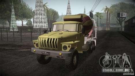 Ural 4320 betoneira para GTA San Andreas